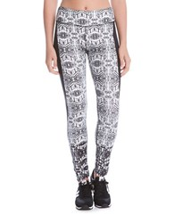 Karen Kane Active Long Side Contrast Leggings Black