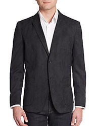 Theory Wool Blend Camo Blazer Black