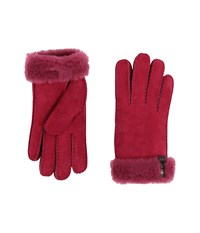 Ugg Tenney Glove With Leather Trim Lonely Hearts Multi Dress Gloves Red