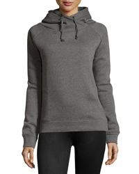 Neiman Marcus Hooded Fleece Sweatshirt Gray
