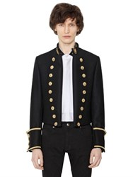Lords And Fools Short Wool Cloth Military Jacket