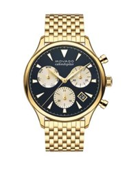 Movado Heritage Calendoplan Yellow Goldplated Stainless Steel Bracelet Watch