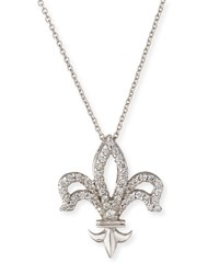 Fleur De Lis Diamond Pendant Necklace Roberto Coin Red