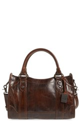 Frye 'Melissa' Washed Leather Satchel Brown Dark Brown