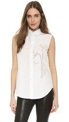 Maiyet Sleeveless Button Down Top Ivory