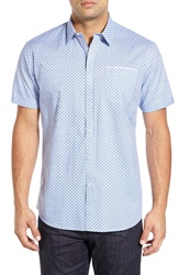 Zagiri 'Satisfaction' Modern Fit Short Sleeve Sport Shirt Light Blue