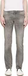 Dolce And Gabbana Grey Faded Slim Jeans