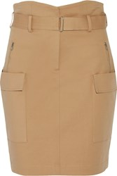 A.L.C. Alvin Cotton Blend Mini Skirt Brown