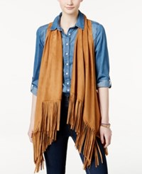 American Rag Fringed Perforated Faux Suede Vest Only At Macy's Tan