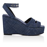 Newbark Women's Maggie Platform Wedge Sandals Navy
