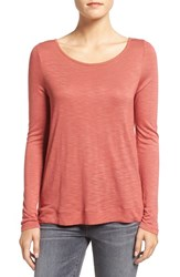 Madewell Women's 'Anthem' Boatneck Tee Spiced Rose