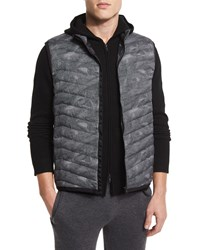 Theory Corick Printed Lightweight Puffer Vest Black Multi