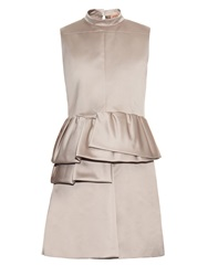 N 21 High Neck Peplum Satin Dress