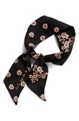 Kate Spade Women's New York Reversible Floral Print Silk Scarf Persimmon Grove