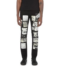 Haculla Patchwork Slim Fit Jeans Black