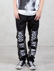 Hood By Air. Double Zip Jeans With Embroidery