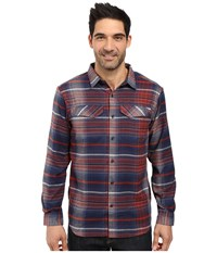 Columbia Silver Ridge Flannel Long Sleeve Shirt Rust Red Ombre Plaid Men's Long Sleeve Button Up Brown