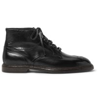 Dolce And Gabbana Leather Brogue Boots Black