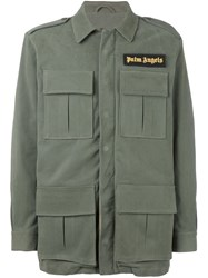 Palm Angels Cargo Jacket Green