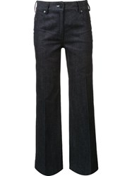 Calvin Klein Collection Flared Denim Trousers Blue