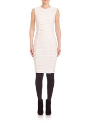 Akris Punto Sleeveless Ruched Front Dress Cream