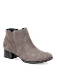 Born Holman Suede Ankle Booties Grey
