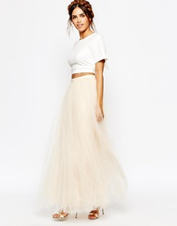Little Mistress Maxi Tulle Skirt Cream