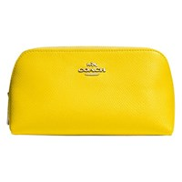 Coach Small Leather Cosmetics Case Yellow