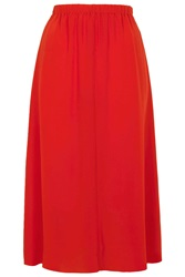 Silk Layer Slip Skirt By Boutique Bright Red