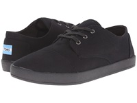 Toms Paseo Black On Black Canvas Men's Lace Up Casual Shoes