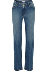 Opening Ceremony Dip Mid Rise Straight Leg Jeans Light Denim
