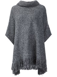 Joie Fringed Loose Jumper Grey