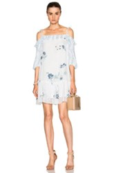 See By Chloe Off Shoulder Mini Dress In White Floral