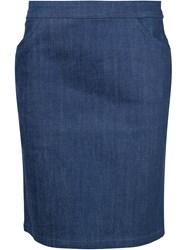 A.P.C. Short Straight Skirt Blue