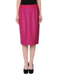 Rena Lange Knee Length Skirts Garnet