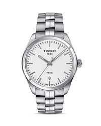 Tissot Pr 100 Stainless Steel Watch 39Mm White Silver