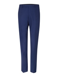New And Lingwood Anderby Herringbone Suit Trouser Blue