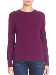 Saks Fifth Avenue Cashmere Crewneck Sweater Bright Green Red Eggplant Lavender Light Pink Ligh