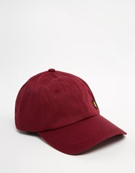 Lyle And Scott Logo Baseball Cap Red