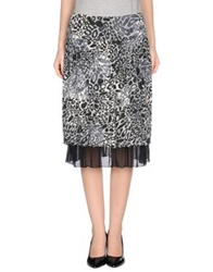 Renato Balestra Knee Length Skirts Black
