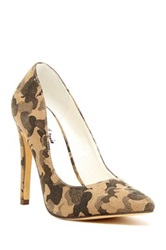 Michael Antonio Lamiss Camo Printed Pump Green