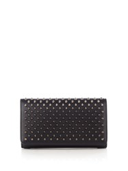 Christian Louboutin Macaron Spike Embellished Leather Wallet Black Multi