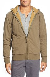 Men's Jeremiah 'Fisk' Zip Front Hoodie With Faux Shearling Lining Canteen