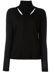 Dorothee Schumacher High Neck Ribbed Pullover Black