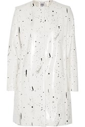 Opening Ceremony Banana Printed Faux Leather Jacket White