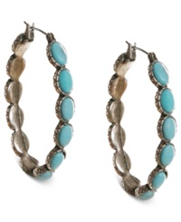 Lucky Brand Earrings Reconstituted Turquoise Hoop Earrings