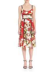 Abs By Allen Schwartz Sundress With Paneled Skirt Red