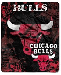 Northwest Company Chicago Bulls Raschel Shadow Blanket