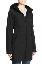 Women's Ilse Jacobsen Hornbaek Regular Fit Hooded Raincoat Black