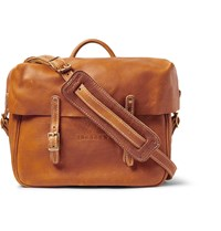 Yuketen Distressed Full Grain Leather Messenger Bag Light Brown